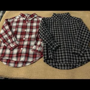 Lot of 2 New Boys 18-24 Mos Dress Shirts
